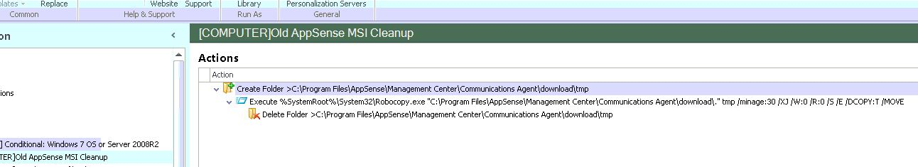 AppSense MSI Cleanup Action