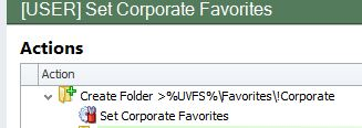 Adding Corporate Favorite Items to a Users Profile using AppSense Environment Manager
