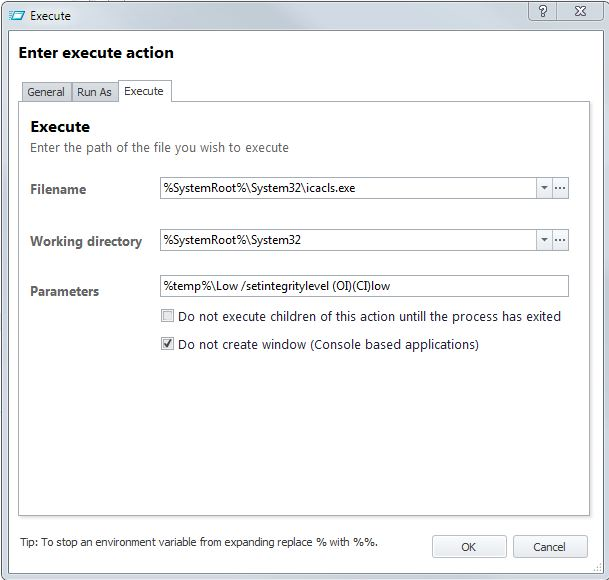 AppSense Environment Manager - Using ICACLS / Print Preview Blank Page