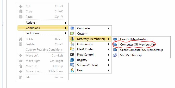 Leveraging Location Based Conditions with the Registry in AppSense Environment Manager