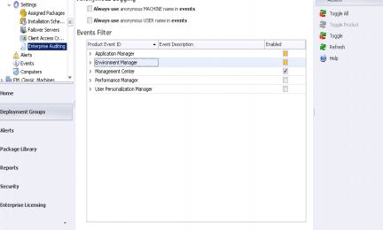 AppSense Environment Manager Event IDs