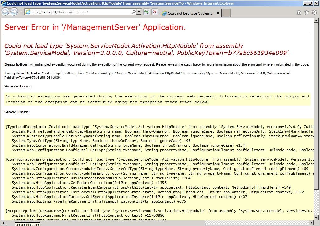 AppSense Management Server URL Error