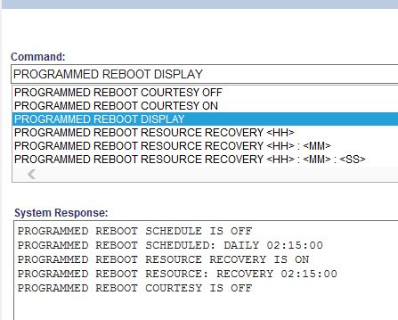 How to schedule a reboot on a Mitel 3300 Controller