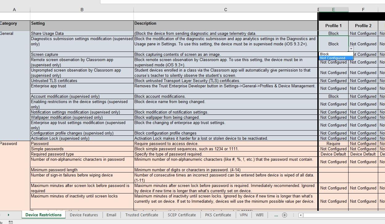 Intune Device Configuration Template