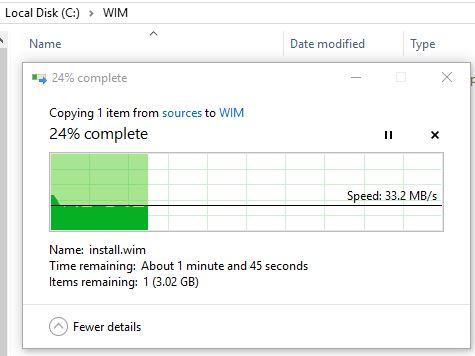 Windows 10 1809 - Basic WIM Optimization and Offline