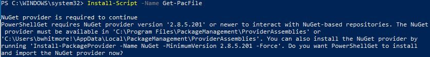 Generate Office 365 PAC Files with PowerShell