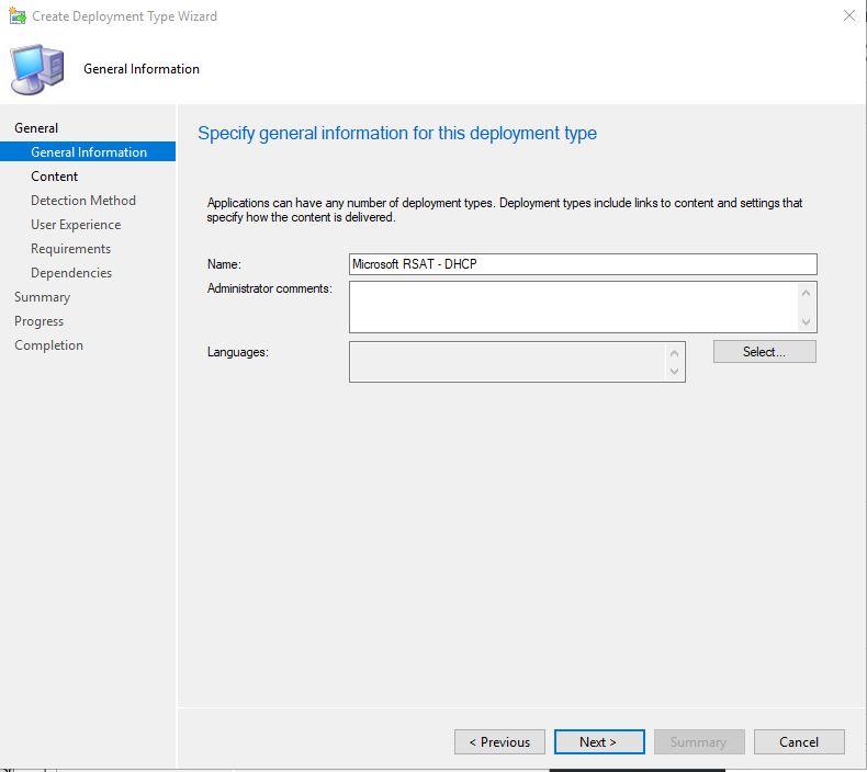 Deploy RSAT for Windows 10 1809 using SCCM