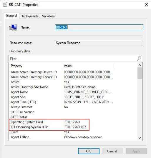 SCCM Site Server In-Place Upgrade from Windows Server 2012